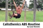 Calisthenics abs routine (Addome) by Lazar Novovic